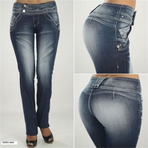 Co'Coon Indra Indigo Wash Butt Lifter Bump Up Jeans