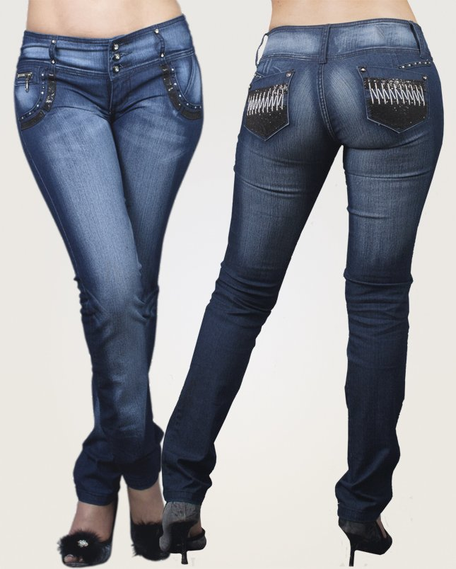 Co'Coon Indra Jessica Butt Lift Shaping Jeans - Blue