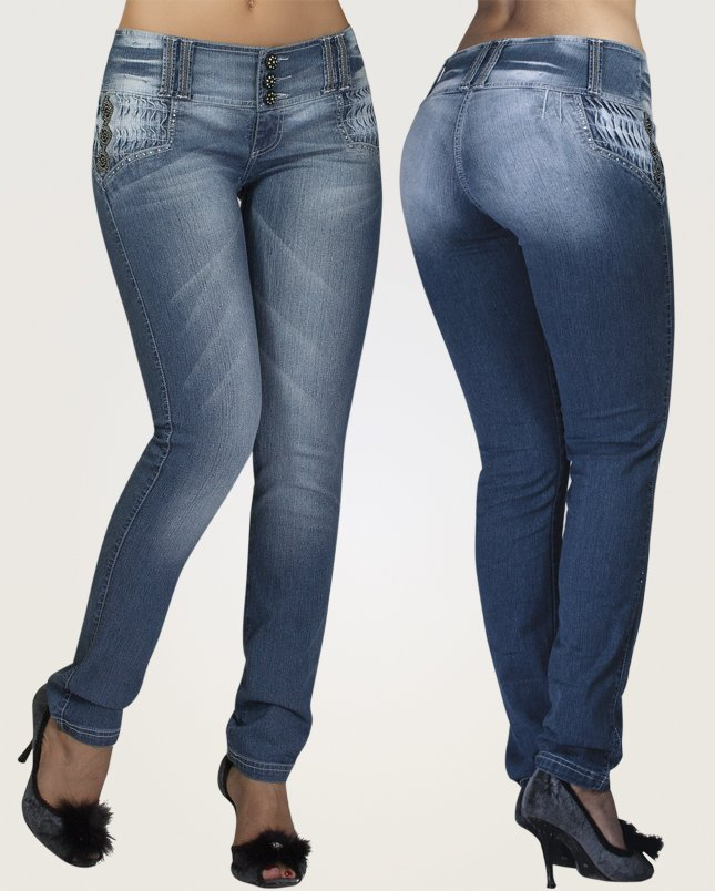 Co'Coon Indra Kim K. Butt Lift Shaping Jeans - Blue