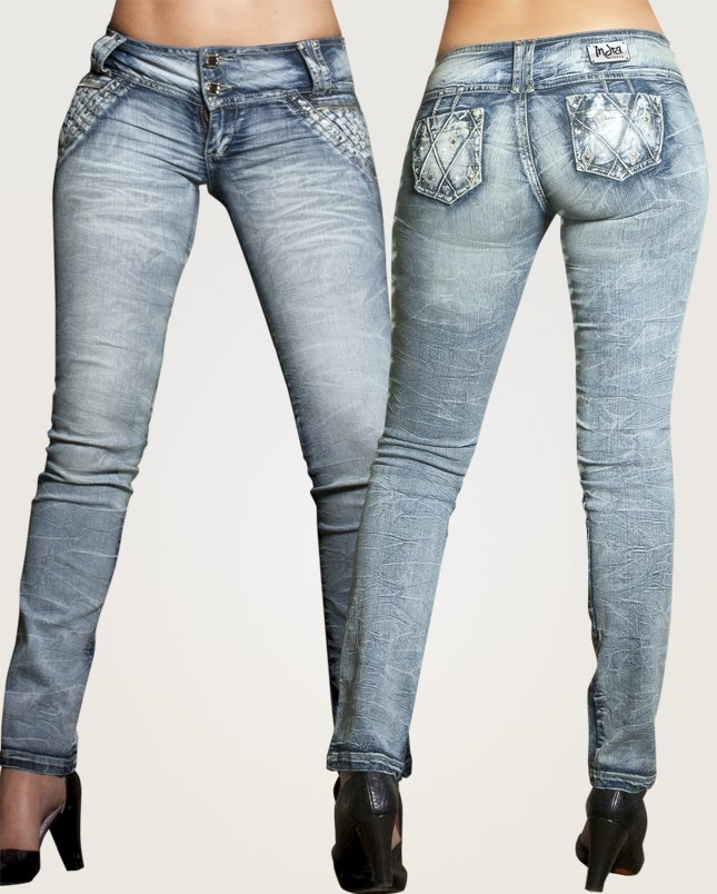 Co'Coon Indra Marilyn Butt Lift Shaping Jeans - Blue