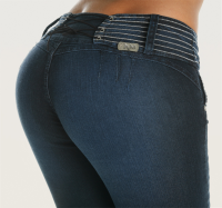 Co'Coon Indra Melissa Butt Lift Shaping Jeans - Blue