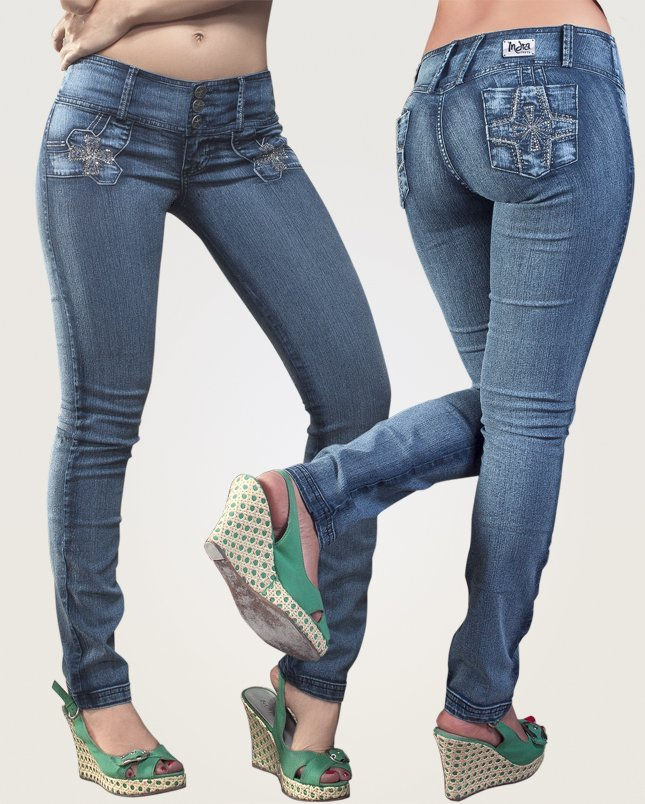 Co'Coon Indra Serena Butt Lift Shaping Jeans - Blue