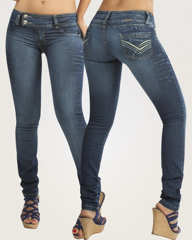 Co'Coon Indra Shelly Butt Lift Shaping Jeans - Blue
