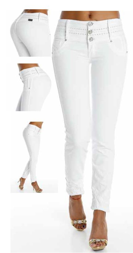 Co'Coon Indra Liberty Lift Shaping Jeans - White