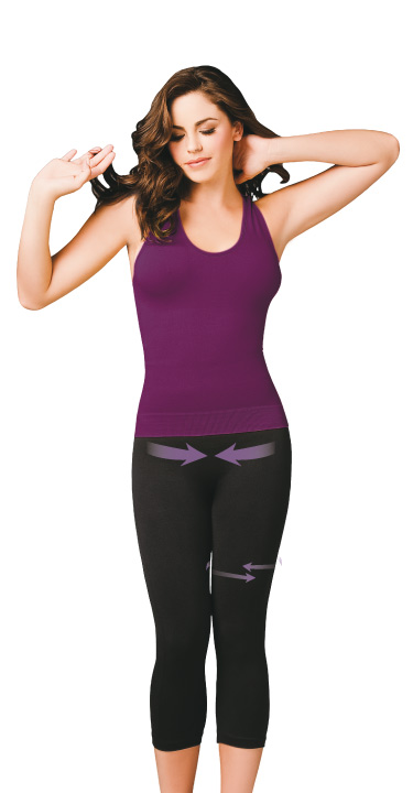 Co'Coon Seamless Sport Anti-Cellulite Biocrystals Slimming Capris (w/Biocrystal nutrients)