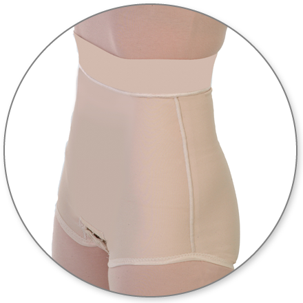 ContourMD Abdominal Compression Panty Girdle w/ 2 - in. Waist (Closed Crotch & With Zipper) - Stage 1 (22-ABG2P)