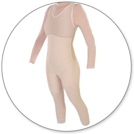 ContourMD Ankle-Length Compression Body Shaper (Open Crotch & Side Zippers) - Stage 1 (29Z-BSWZP)