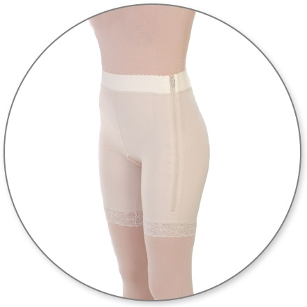 ContourMD High-Waist High-Thigh Compression Girdle w/ 2 inch Waist (Open Crotch & Side Zipper) - Stage 1 (3-MT2HTP)