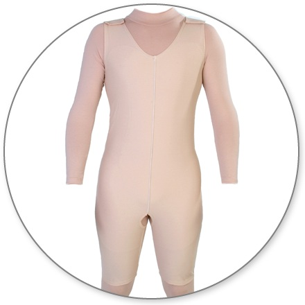 ContourMD Male Post-Surgical Compression Body Shaper (w/ Side Zipper & Open Crotch) - Stage 1 (21-MBSP)