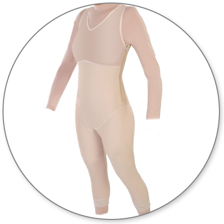 ContourMD Mid-Calf Compression Body Shaper (Slit Crotch & Side Zippers) - Stage 1 (28Z-BSZP)