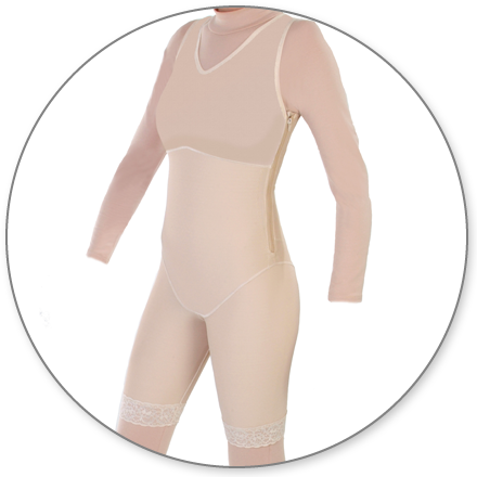 ContourMD Mid-Thigh Compression Body Shaper (Slit Crotch & Side Zippers) - Stage 1 (27Z-BSWZP)