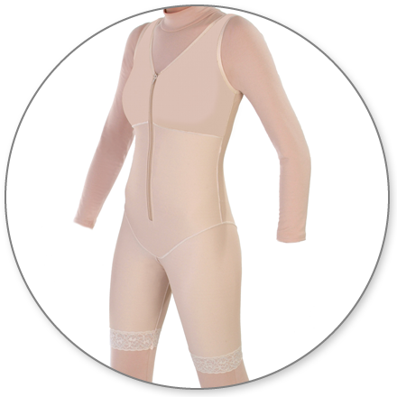 ContourMD Mid-Thigh Compression Body Shaper (Slit Crotch & Front Zipper) - Stage 1 (27-MTBSP)