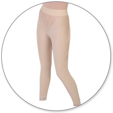 ContourMD Slip-On Ankle-Length Compression Girdle w/ 2 in. Waist (Closed Crotch & No Zipper) - Stage 2 (15-ANKCCP)