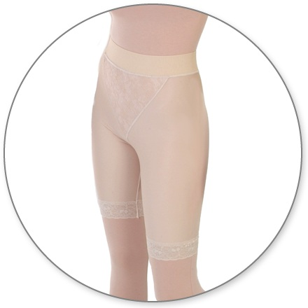 ContourMD Slip On Mid-Thigh Compression Girdle w/ 2 in. Waist (Closed Crotch & No Zipper) - Stage 2 (15-MTCCP)
