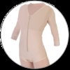 ContourMD Brief-Style Compression Body Shaper w/ Sleeves (Slit Crotch & Front, Padded Zipper) - Stage 1 (32-BSWSP)