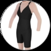 ContourMD Mid-Thigh Compression Body Shaper w/ Bra Top (No Zipper) - Stage 2 (27-NZMTBSBTP)