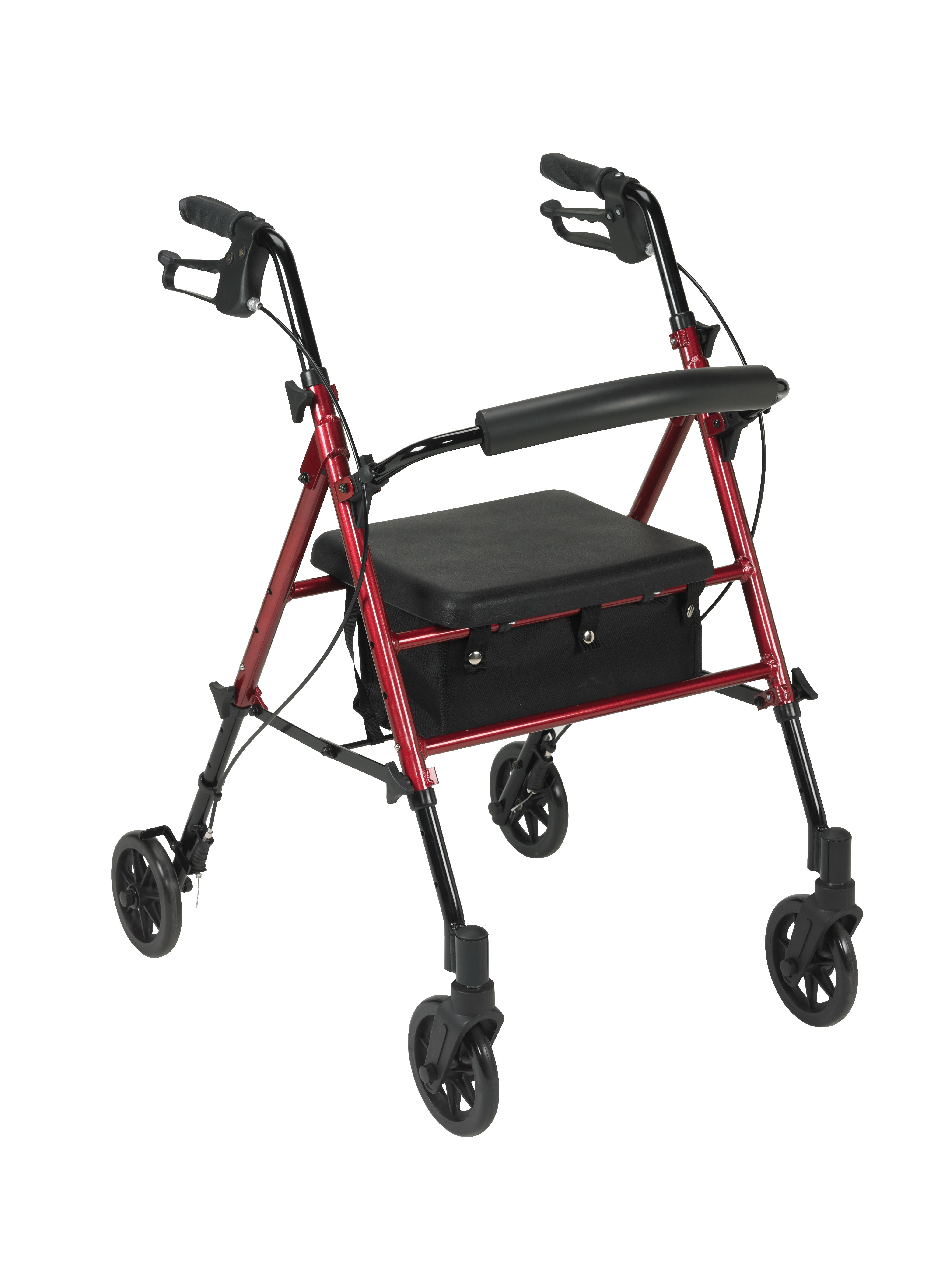 Drive Adjustable Height Rollator with 6