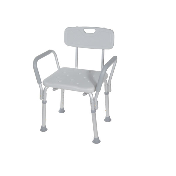 Drive Bath Bench with Padded Arms- With Backrest