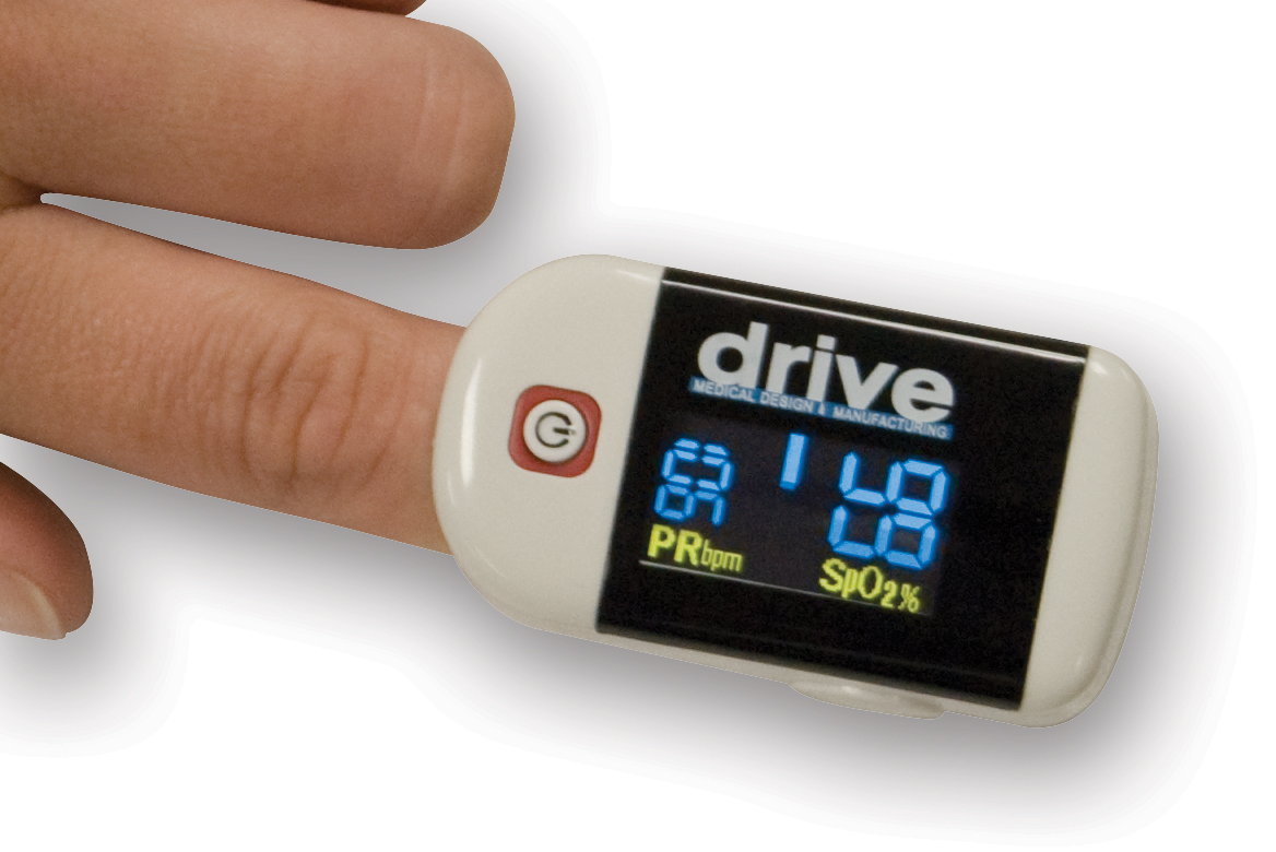 Drive Clip Style Fingertip Pulse Oximeter with Dual View LCD