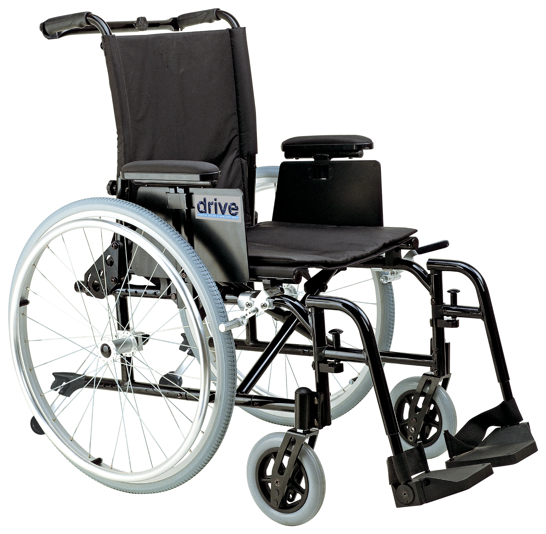 Drive Cougar Ultra Lightweight Rehab Wheelchair with Various Arms Styles and Front Rigging Options