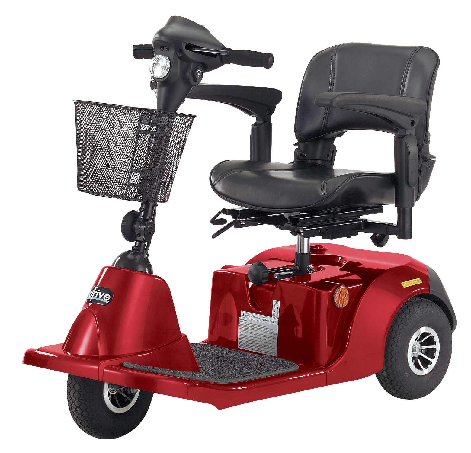 Drive Daytona 3 GT Medium Sized 3 Wheel Scooter with Padded Seat