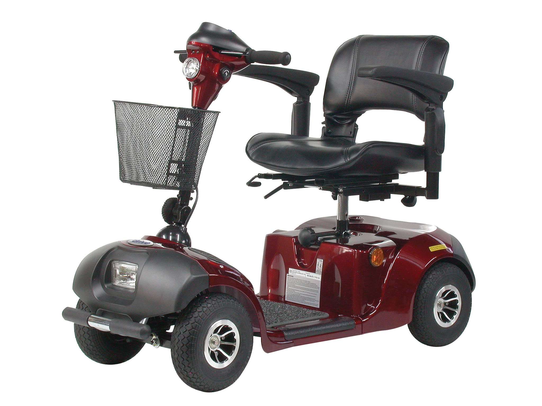 Drive Daytona 4 GT Medium Sized 4 Wheel Scooter with Padded Seat