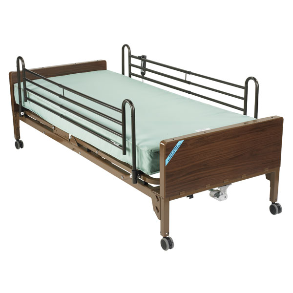 Drive Delta Ultra Light Semi Electric Bed- Includes Full Rails and Innerspring Mattress