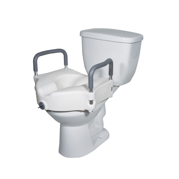Drive Elevated Raised Toilet Seat with Removable Padded Arms