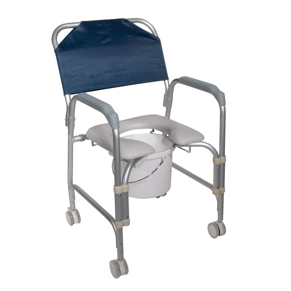 Drive Lightweight Portable Shower Chair Commode with Casters