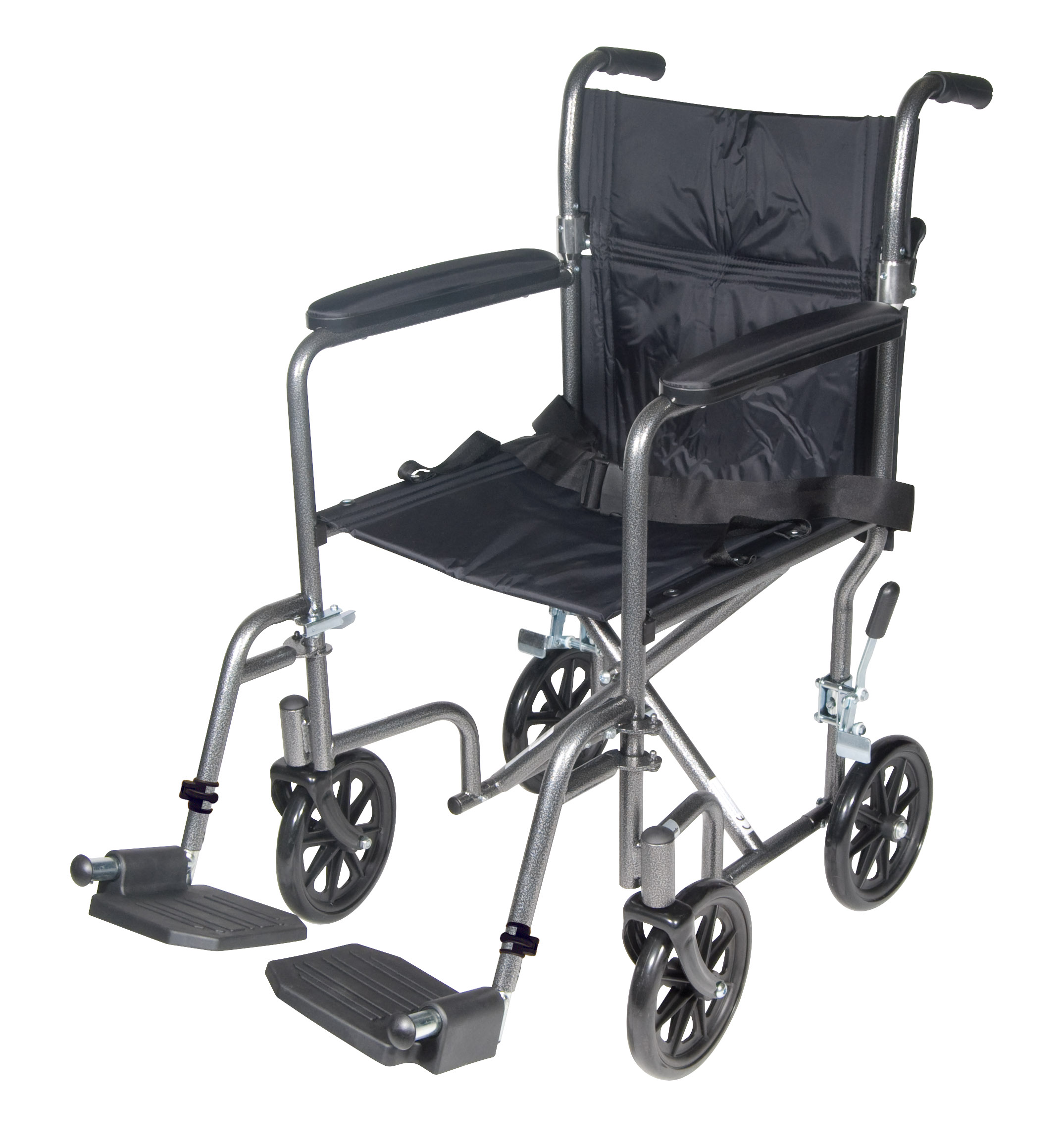Drive Lightweight Steel Transport Wheelchair with Swing away Footrests