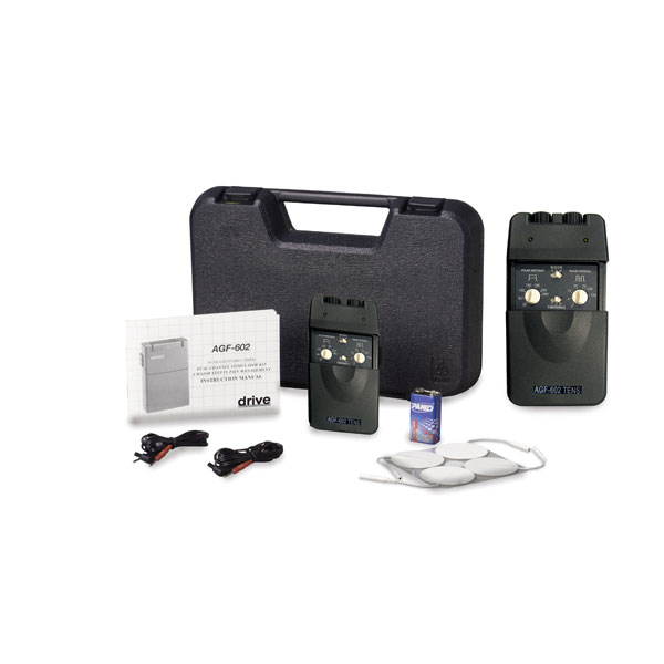 Drive Portable Dual Channel TENS Unit with Timer and Electrodes