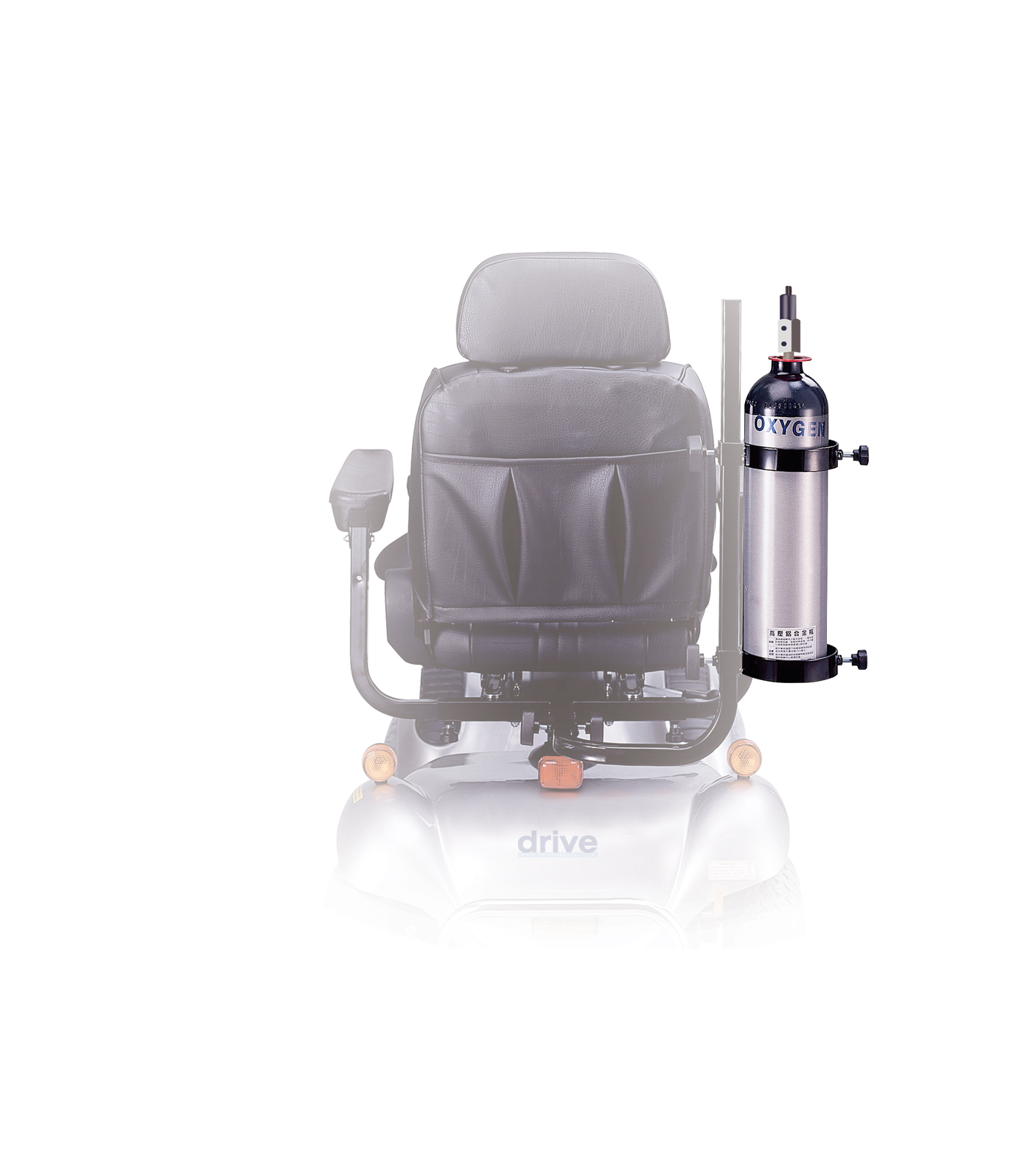 Drive Power Mobility Scooter Oxygen Cylinder Caddy