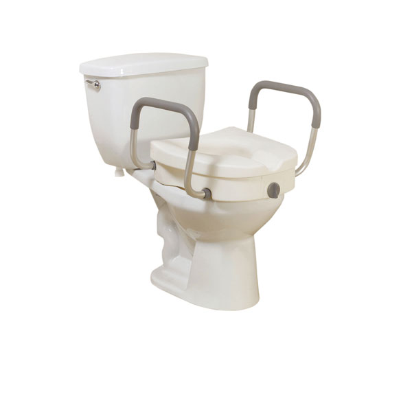 Drive Raised Toilet Seat with Removable Padded Arms