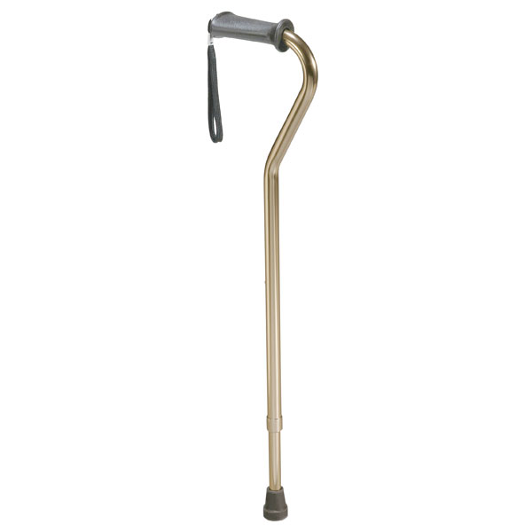 Drive Rehab Ortho K Grip Offset Handle Cane with Wrist Strap