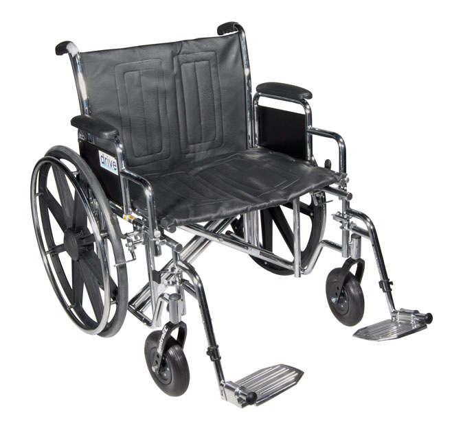 Drive Sentra EC Heavy Duty Wheelchair with Various Arm Styles and Front Rigging Options