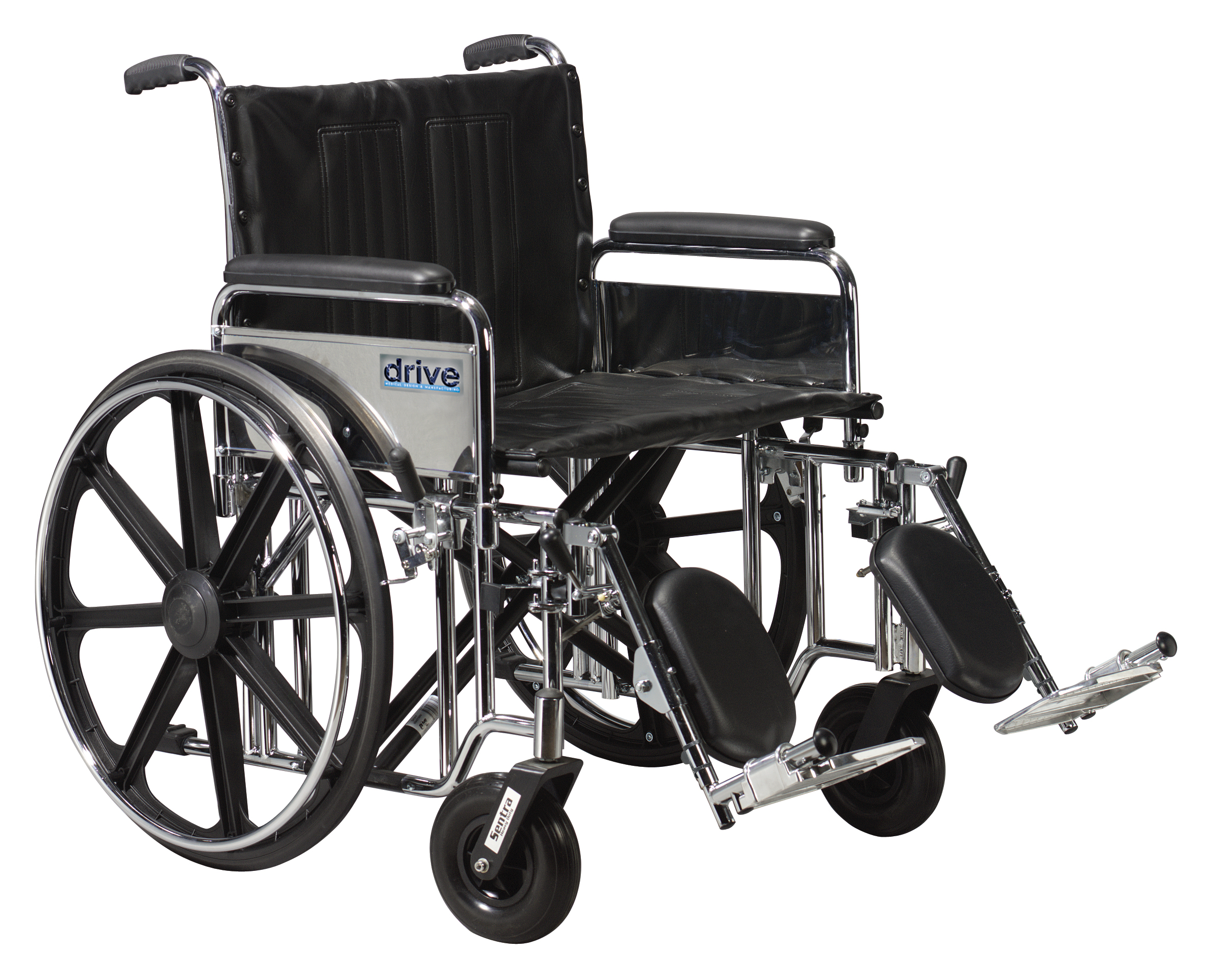 Drive Sentra Extra Heavy Duty Wheelchair with Various Arm Styles and Front Rigging Options