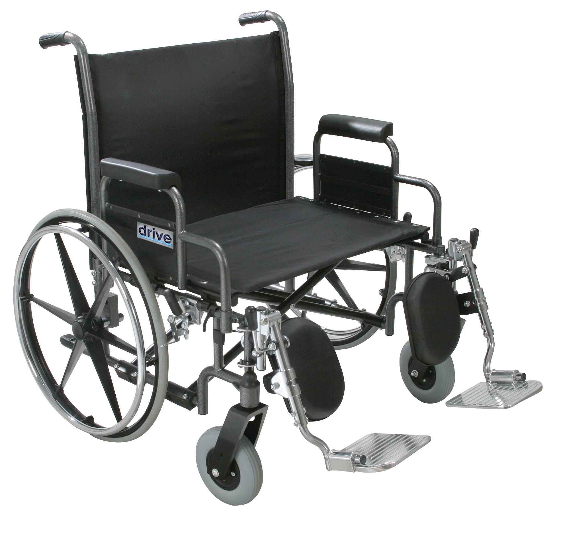 Drive Sentra Heavy Duty Wheelchair with Various Arm Styles