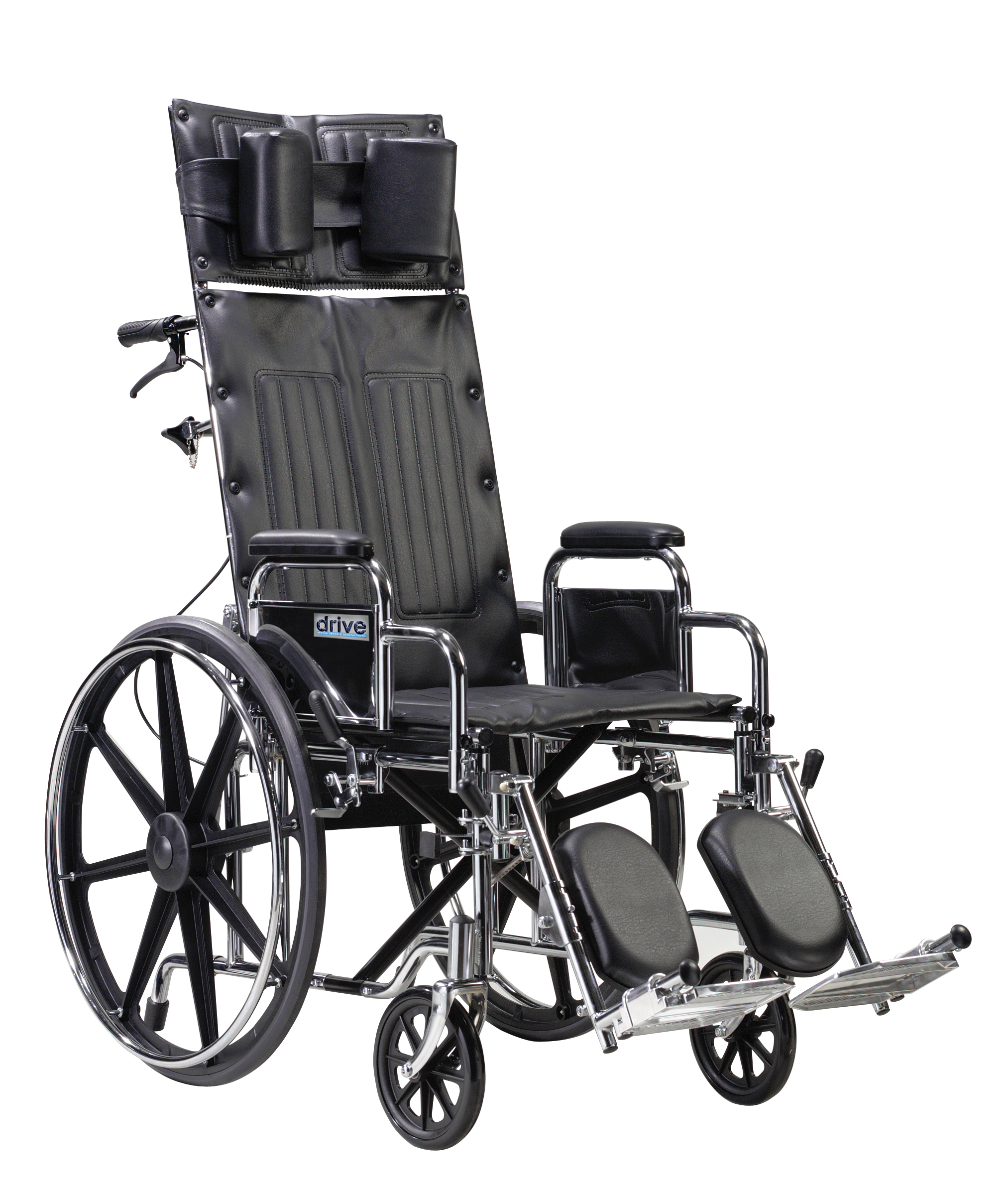 Drive Sentra Reclining Wheelchair with Various Arm Styles and Elevating Leg rest