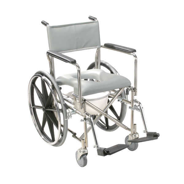 Drive Stainless Steel Rehab Shower Chair Commode- Closed Front Seat