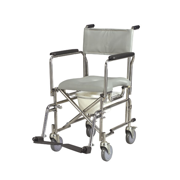 Drive Stainless Steel Rehab Shower Chair Commode