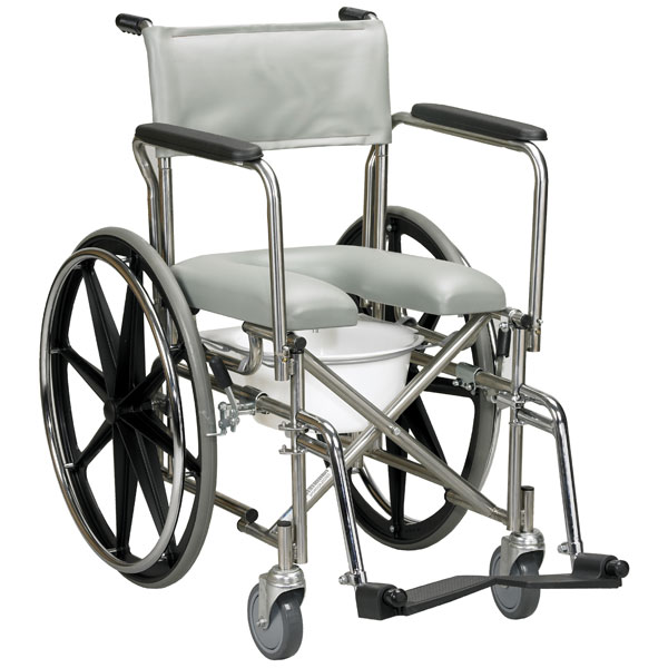 Drive Stainless Steel Rehab Shower Chair Commode- Open Front Seat