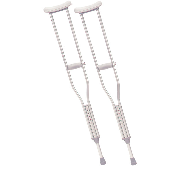 Drive Walking Crutches with Underarm Pad and Handgrip