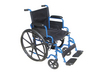 Drive Blue Streak Wheelchair with Flip Back Detachable Desk Arms and Swing away Foot Rest
