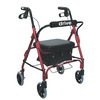 Drive Junior Low Handle Rollator Walker with Padded Seat and Backrest