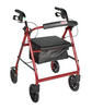 Drive Rollator with Fold Up and Removable Back Support and Padded Seat