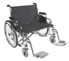 Drive Sentra EC Heavy Duty Extra Wide Wheelchair with Various Arm Styles Arms