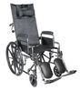 Drive Silver Sport Reclining Wheelchair with Detachable Desk Length Arms and Elevating Leg rest