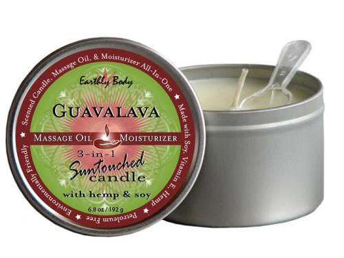 Earthly Body Guavalava 3-in-1 Suntouched Candle Rounds - 6.8 oz.