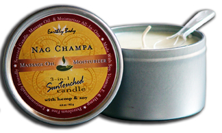 Earthly Body 3-in-1 Suntouched Candle Rounds - Nag Champa - 6.8 oz.