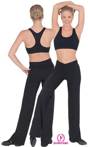 "Eurotard ""V"" Front Yoga Pants"